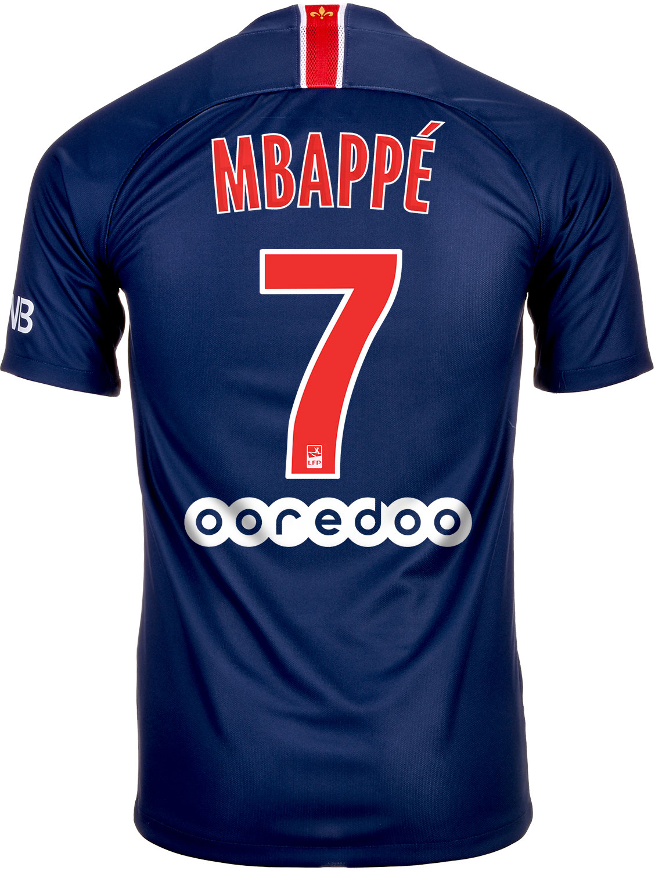 2018 19 Kids Nike Kylian Mbappe PSG Home Jersey - SoccerPro d09b29737