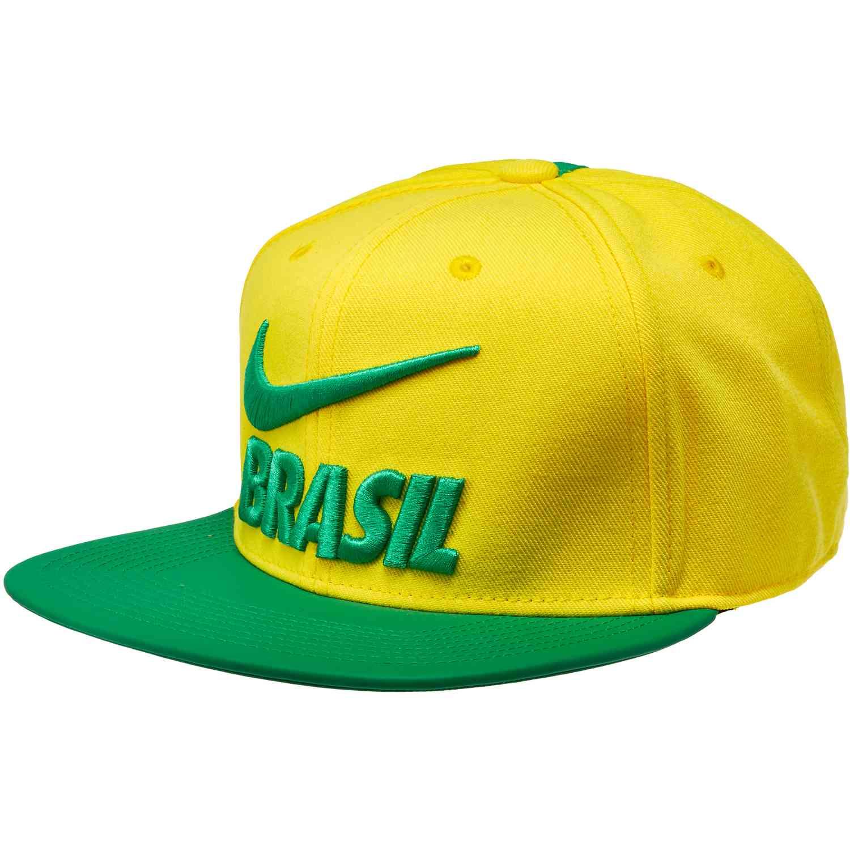 e25df76fba8 Nike Brazil Pride Flat Bill Cap – Midwest gold Lucky Green Pine Green