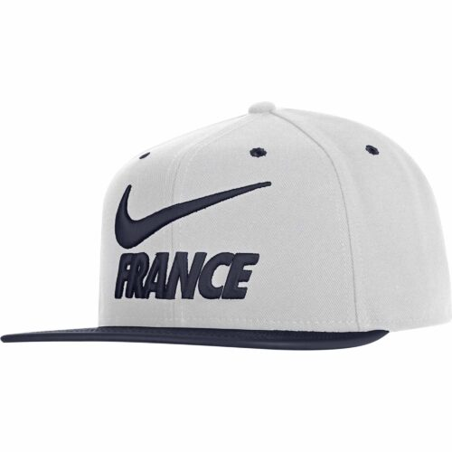 Nike France Pride Flat Bill Cap – White/Obsidian