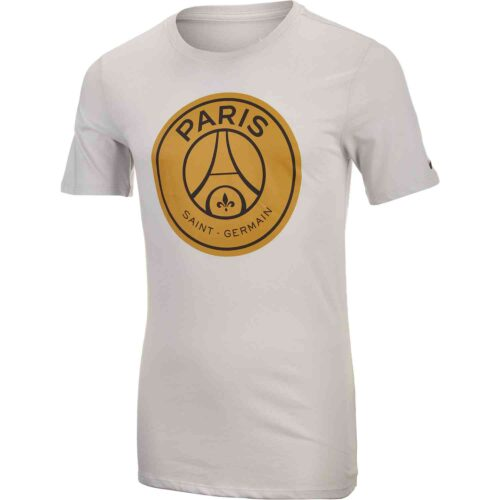 Nike PSG Large Crest Tee – Youth – Light Bone