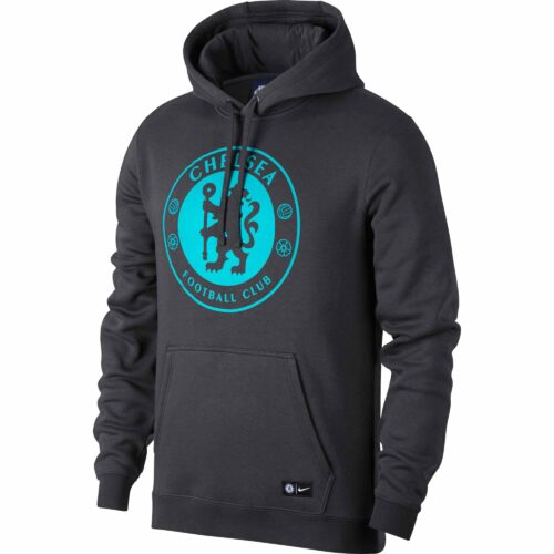 Nike Chelsea Crest Hoodie – Anthracite/Omega Blue