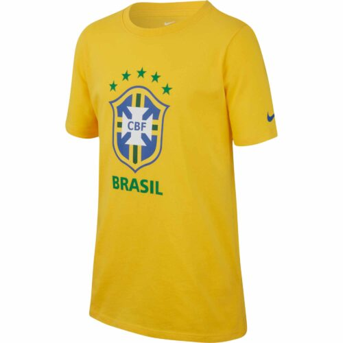 Nike Brazil Large Crest Tee – Youth – Midwest Gold