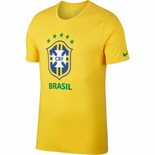 Nike Brazil Large Crest Tee – Midwest Gold