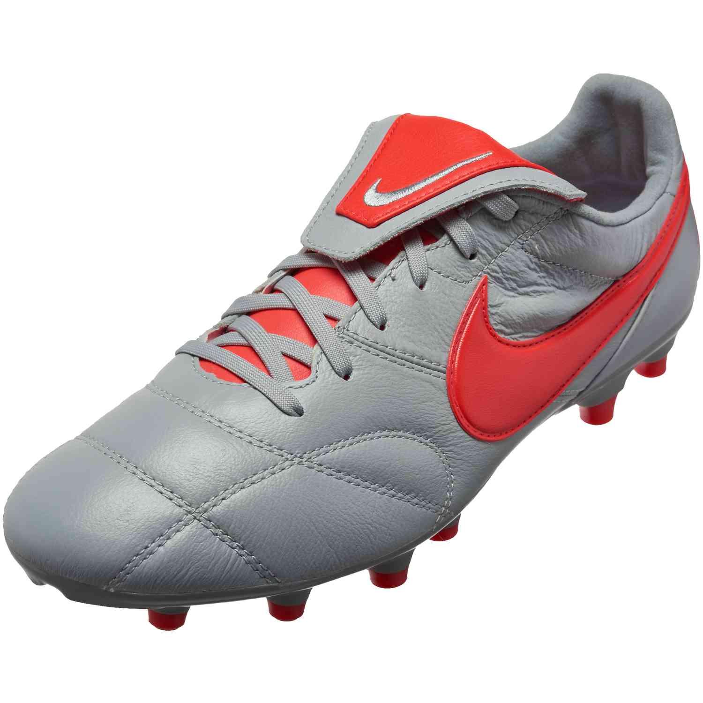 a57d36af4444 Nike Premier II FG - Wolf Grey/Light Crimson - SoccerPro