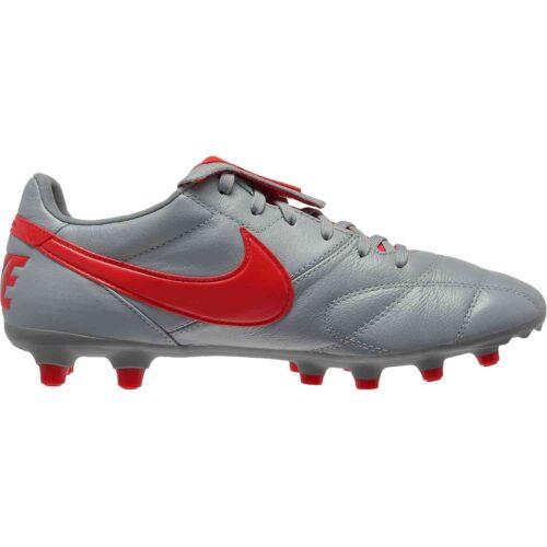 Nike Premier II FG – Wolf Grey/Light Crimson