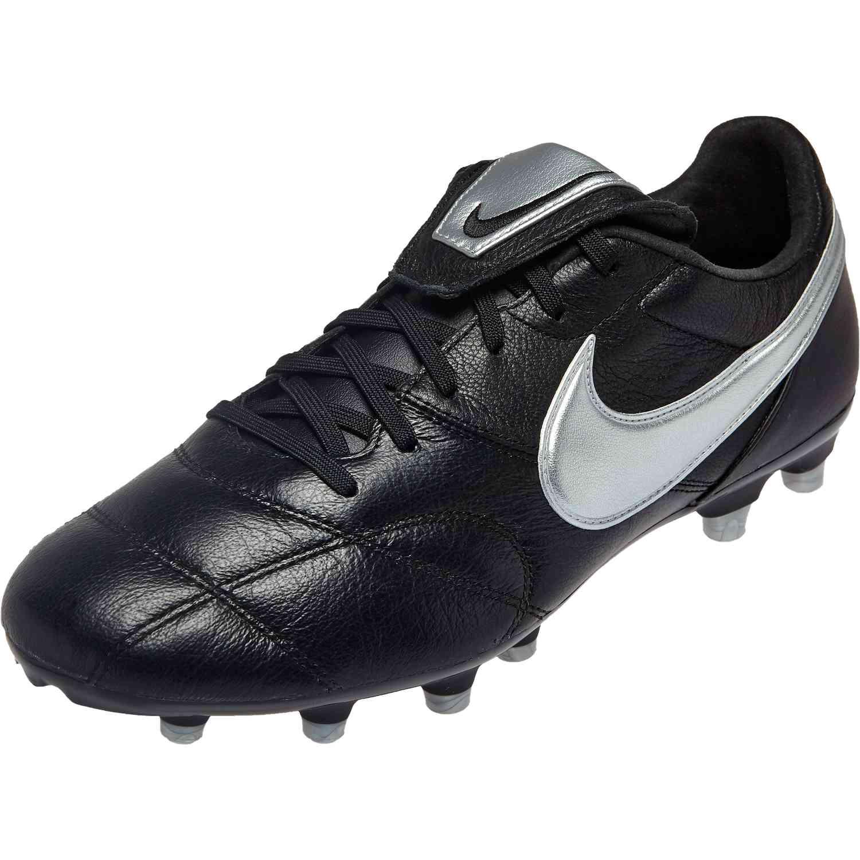 26c2a663df7f Nike Premier II FG - Black/Metallic Silver - SoccerPro