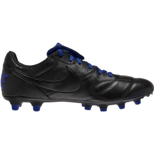 Nike Premier II FG – Black/Black/Racer Blue