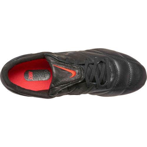 Nike Premier II FG – Black & Dark Smoke Grey with Chile Red