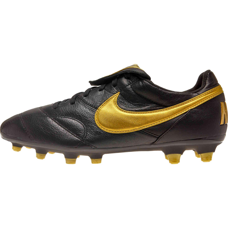 2e7a76e7046 The Nike Premier II FG - Black Metallic Vivid Gold - SoccerPro
