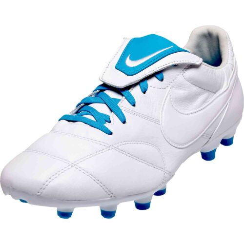 Nike Premier II FG – White/Light Current Blue