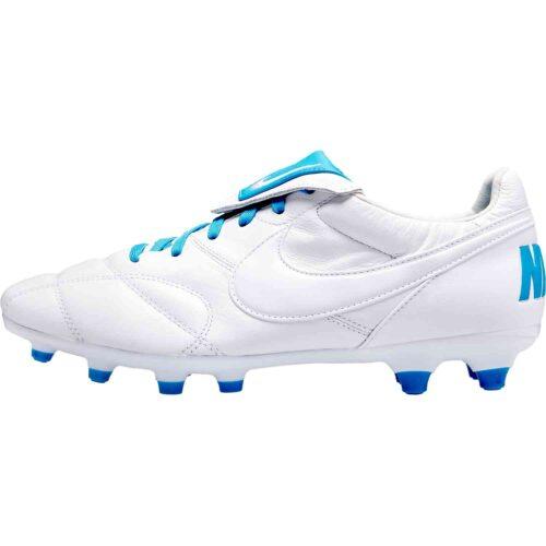 Nike Premier II FG – White/Light Current Blue
