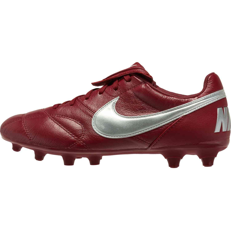 406d1623f18c Nike Premier II FG – Team Red Metallic Silver Team Red