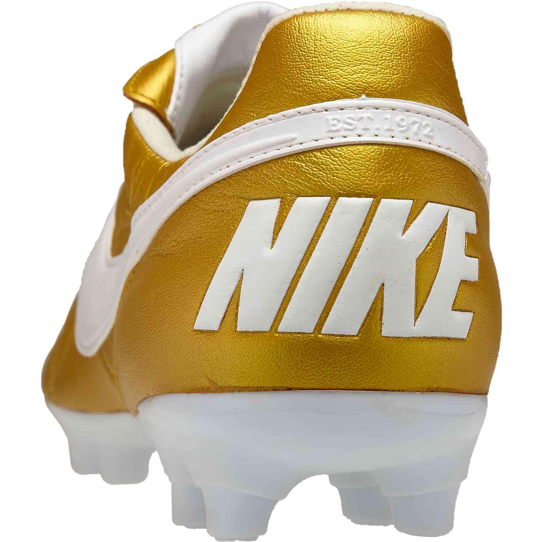 50cb8af595e5 The Nike Premier II FG - Metallic Vivid Gold White - SoccerPro