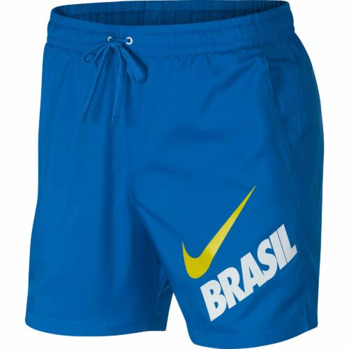 Nike Brazil Woven Flow Shorts – Soar/White