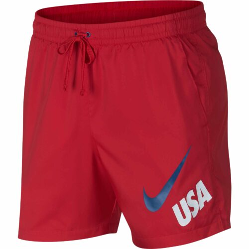Nike USA Woven Flow Shorts – University Red/Gym Blue
