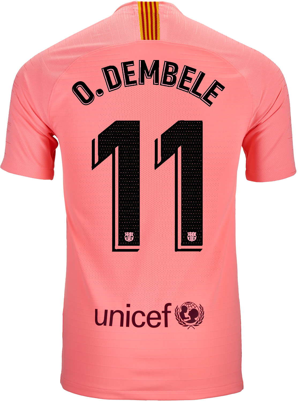 22a493eab45 2018 19 Nike Ousmane Dembele Barcelona 3rd Match Jersey - SoccerPro
