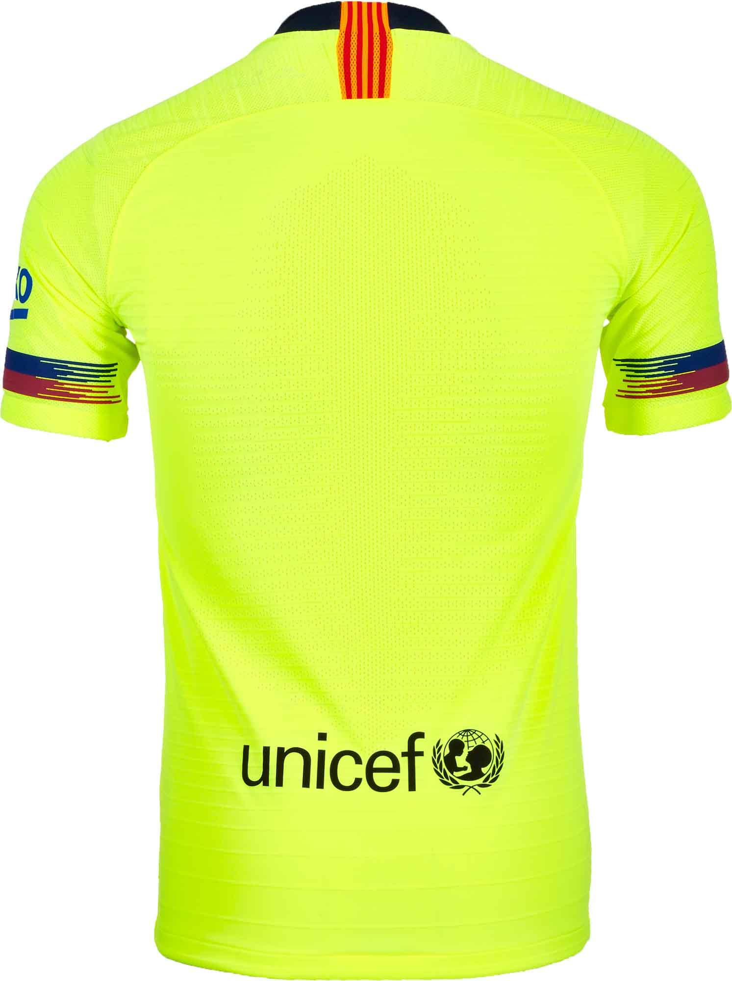 ae292190142 2018/19 Nike Barcelona Away Match Jersey - SoccerPro