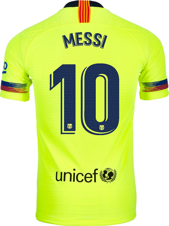 2018 19 Nike Lionel Messi Barcelona Away Match Jersey Soccerpro