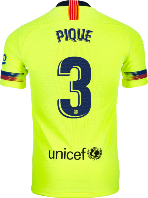 2018/19 Nike Gerard Pique Barcelona Away Match Jersey
