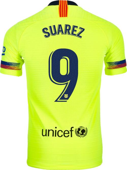 fccb34749ca 2018/19 Nike Luis Suarez Barcelona Away Match Jersey