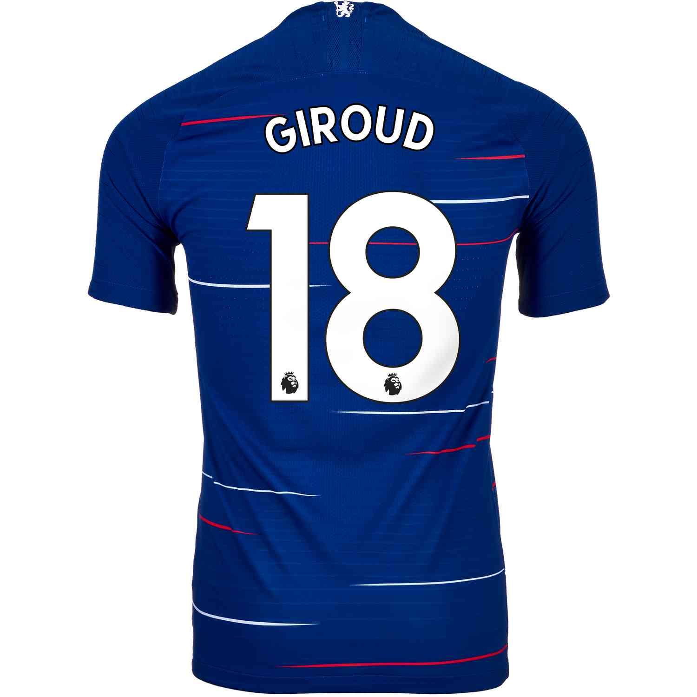 b3fcf209 2018/19 Nike Olivier Giroud Chelsea Home Match Jersey - SoccerPro