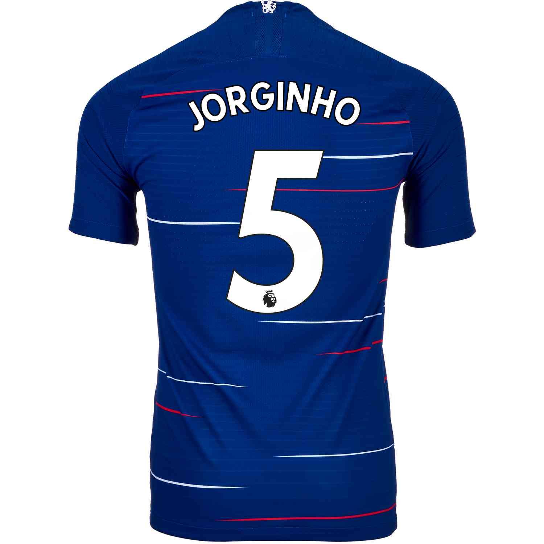 79fd53b68 2018 19 Nike Jorginho Chelsea Home Match Jersey - SoccerPro