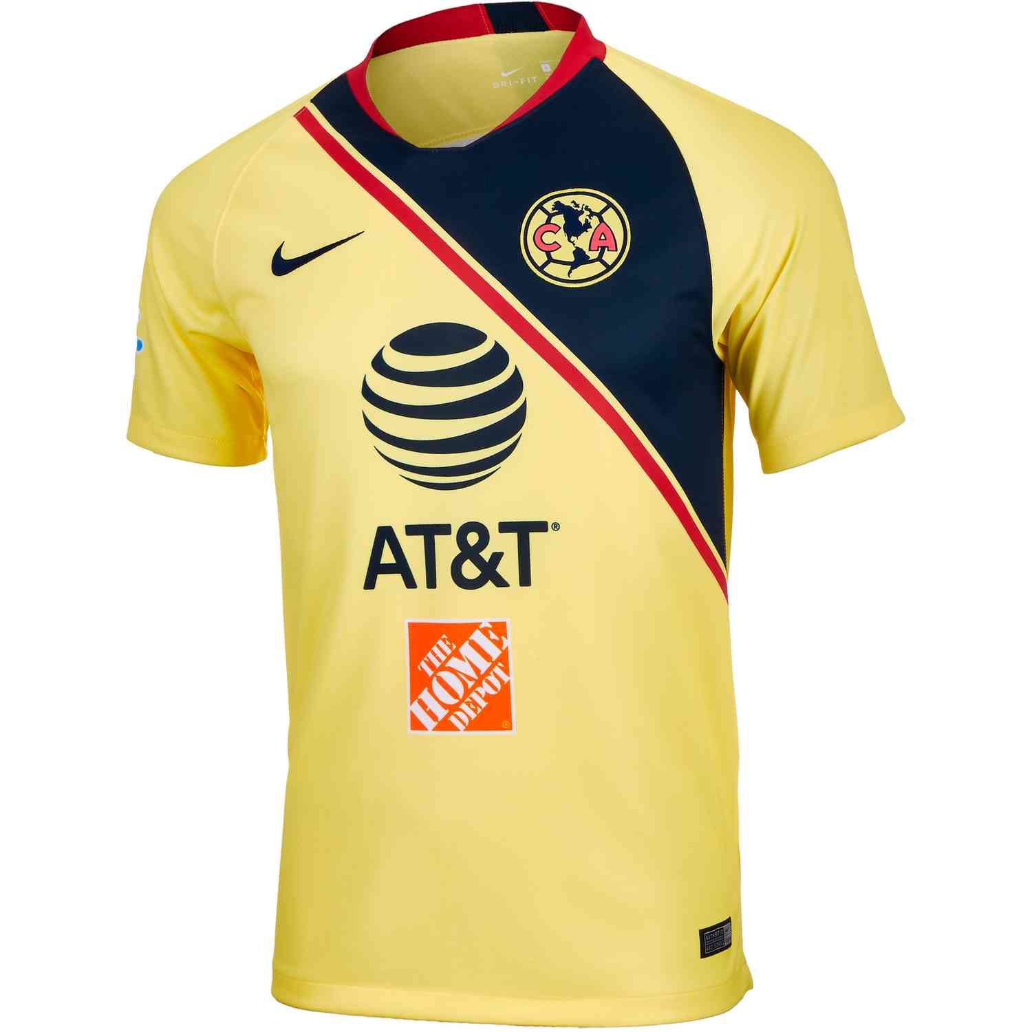 950be4b8f Nike Club America Home Jersey - Lemon Chiffon Gym Red Armory Navy ...
