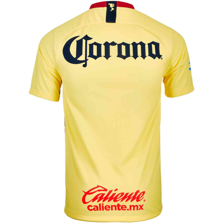 Nike Club America Home Jersey - Lemon Chiffon Gym Red Armory Navy ... be110fe0a