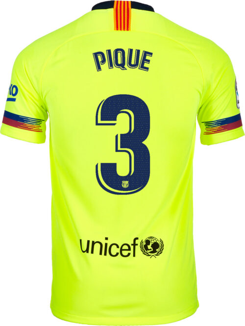 2018/19 Nike Gerard Pique Barcelona Away Jersey