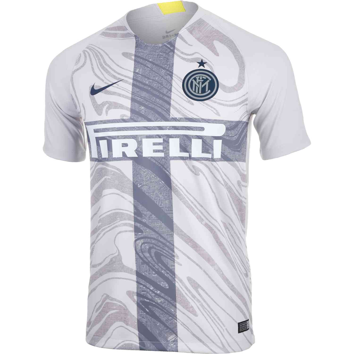 huge discount 374e4 8ce01 Nike Inter Milan 3rd Jersey - Vast Grey/Thunder Blue - SoccerPro