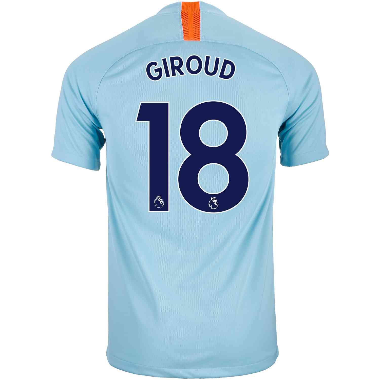 91e2947e 2018/19 Nike Olivier Giroud Chelsea 3rd Jersey - SoccerPro