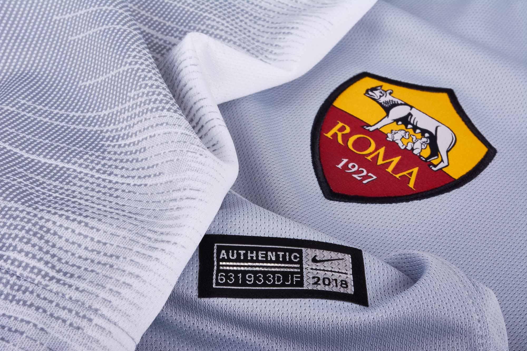 cheaper 46fa4 d852e Nike Roma Away Jersey - Wolf Grey/Black - SoccerPro