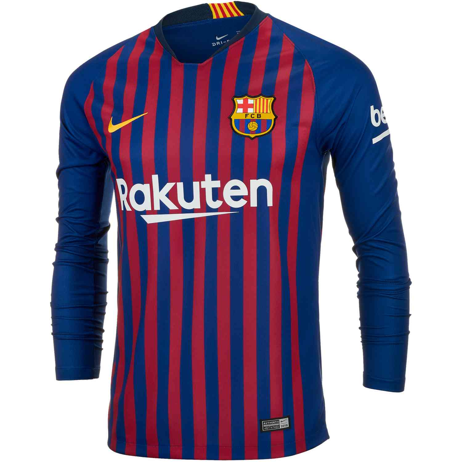 cheap for discount ba60f 273b5 Nike Barcelona Home L/S Jersey – Deep Royal Blue/University Gold