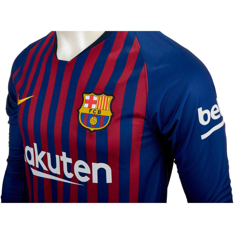 best cheap 19776 778d9 2018/19 Nike Barcelona Home L/S Jersey - SoccerPro
