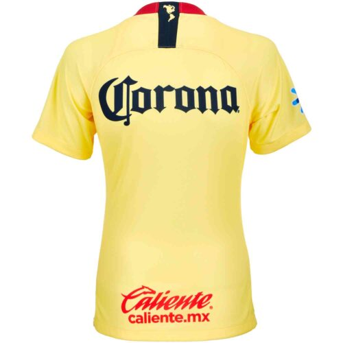 Nike Club America Home Jersey – Womens – Lemon Chiffon/Gym Red/Armory Navy
