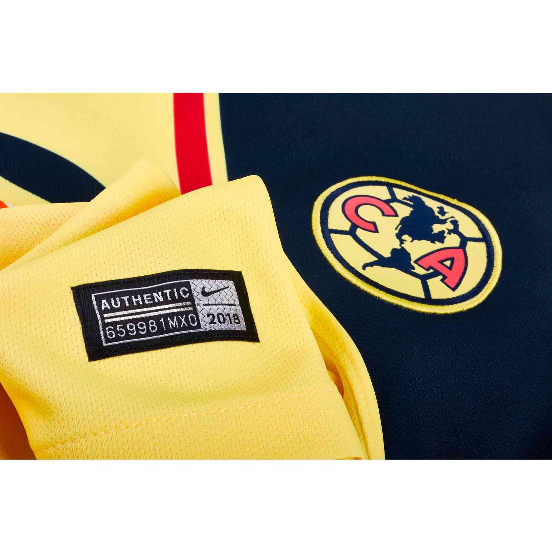 Nike Club America Home Jersey – Womens – Lemon Chiffon Gym Red Armory Navy ed5dfa50b