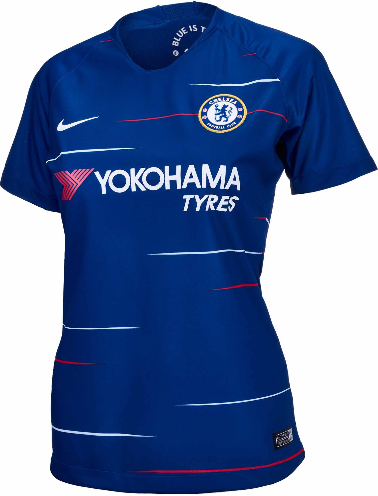 fbf26744f 2018 19 Womens Nike Chelsea Home Jersey - SoccerPro