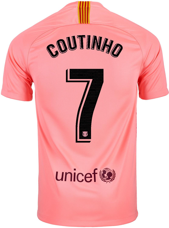 e079ebfc228 2018 19 Kids Nike Philippe Coutinho Barcelona 3rd Jersey - SoccerPro