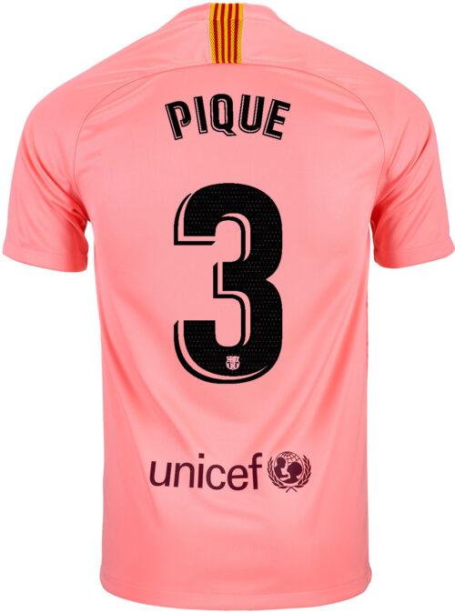 2018/19 Kids Nike Gerard Pique Barcelona 3rd Jersey