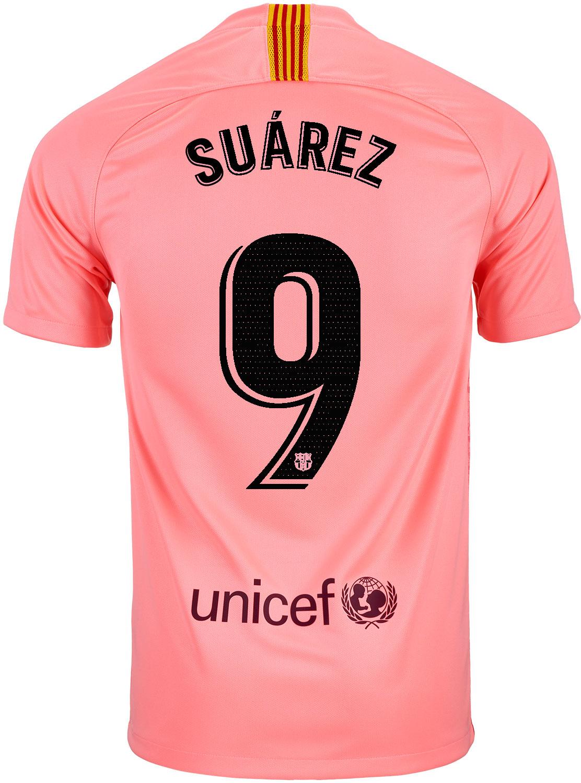 half off 6bffe 38da3 2018/19 Kids Nike Luis Suarez Barcelona 3rd Jersey - SoccerPro