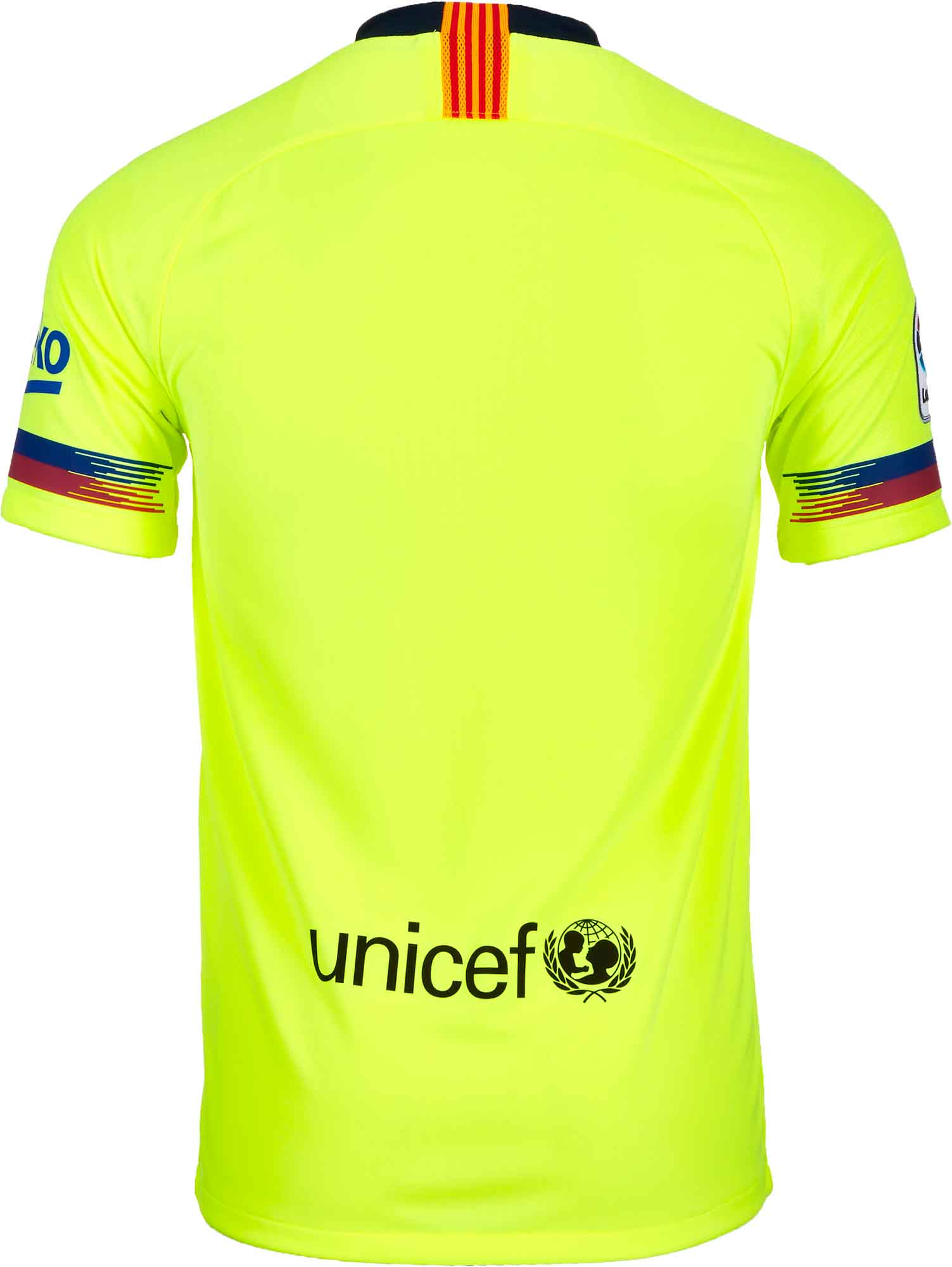 super popular c7596 5290e Nike Barcelona Away Jersey - Youth - Volt/Deep Royal Blue - SoccerPro