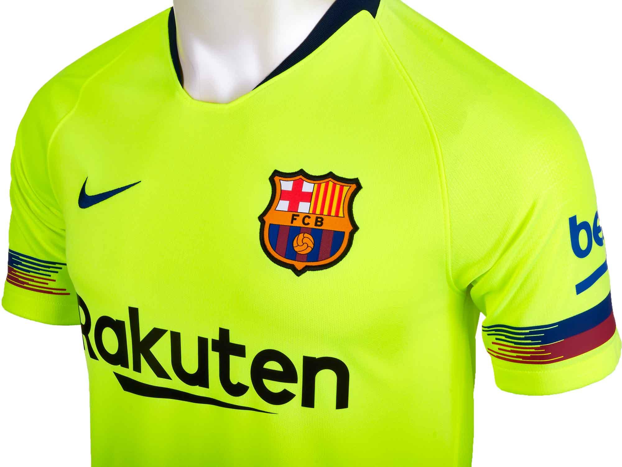 sale retailer b201b 71b89 2018/19 Kids Nike Lionel Messi Barcelona Away Jersey - SoccerPro