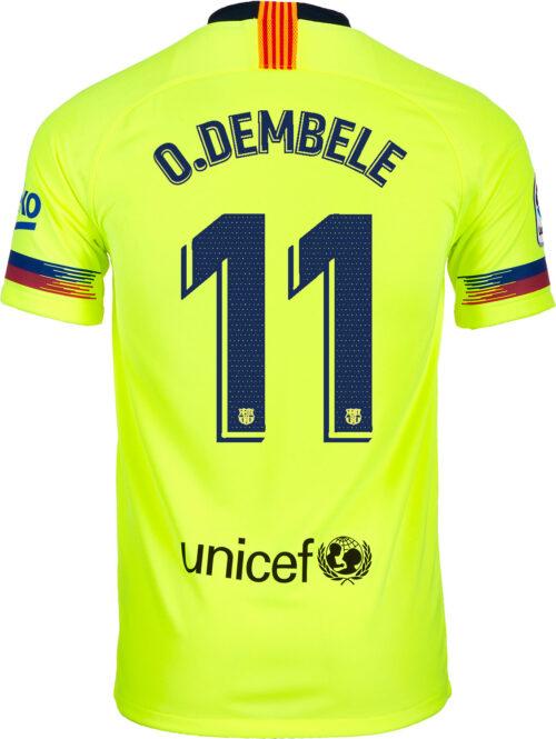 2018/19 Kids Nike Ousmane Dembele Barcelona Away Jersey