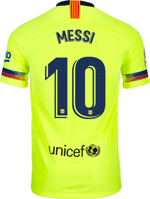 2018/19 Kids Nike Lionel Messi Barcelona Away Jersey