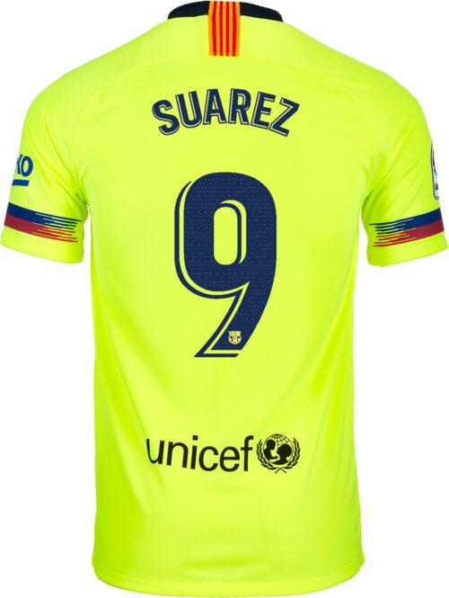 2018/19 Kids Nike Luis Suarez Barcelona Away Jersey
