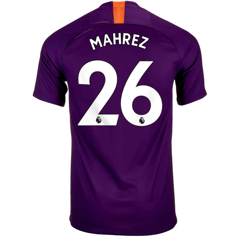 2018 19 Kids Nike Riyad Mahrez Manchester City 3rd Jersey - SoccerPro a8291251b