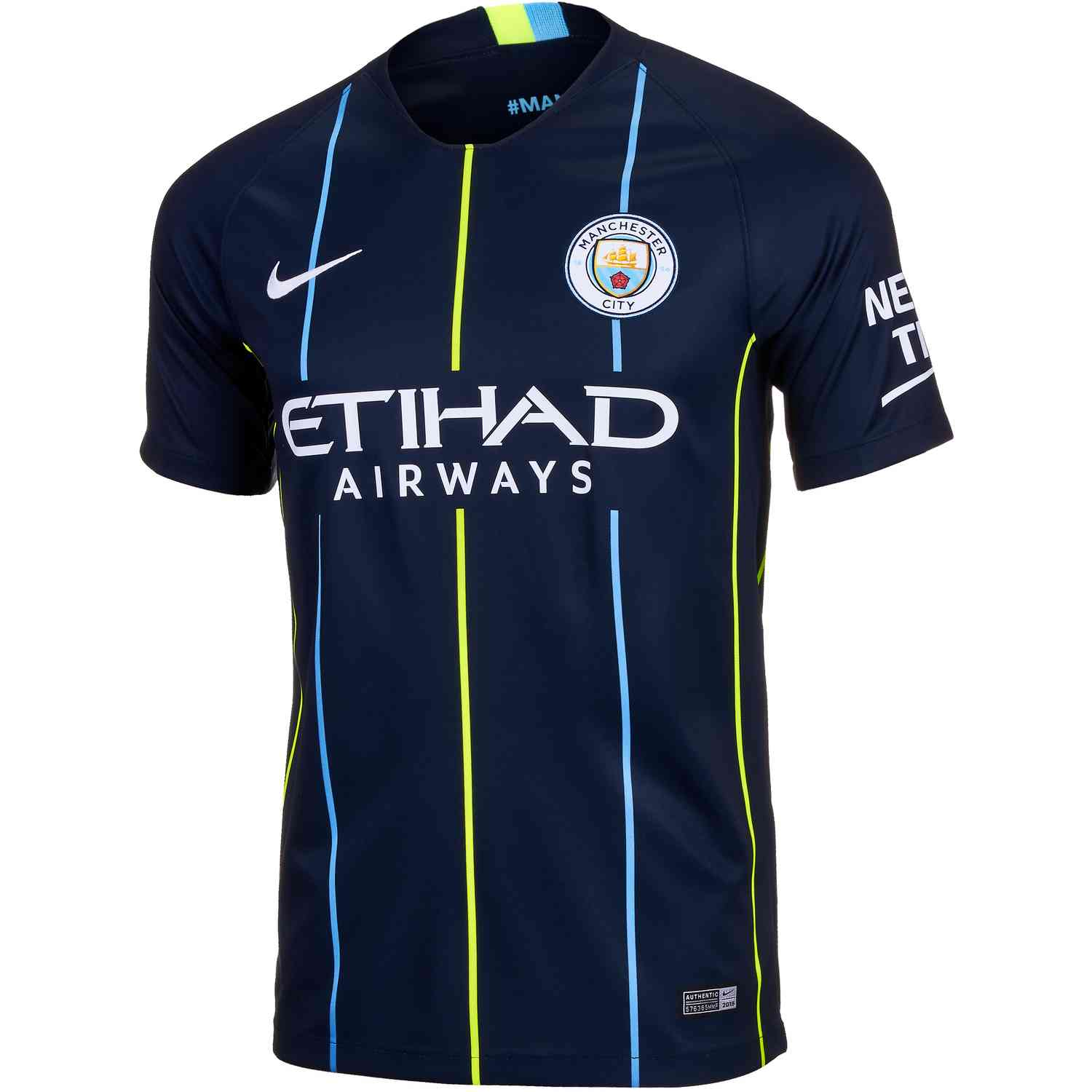 Nike Manchester City Away Jersey - Youth 2018-19 - SoccerPro c73ddf661