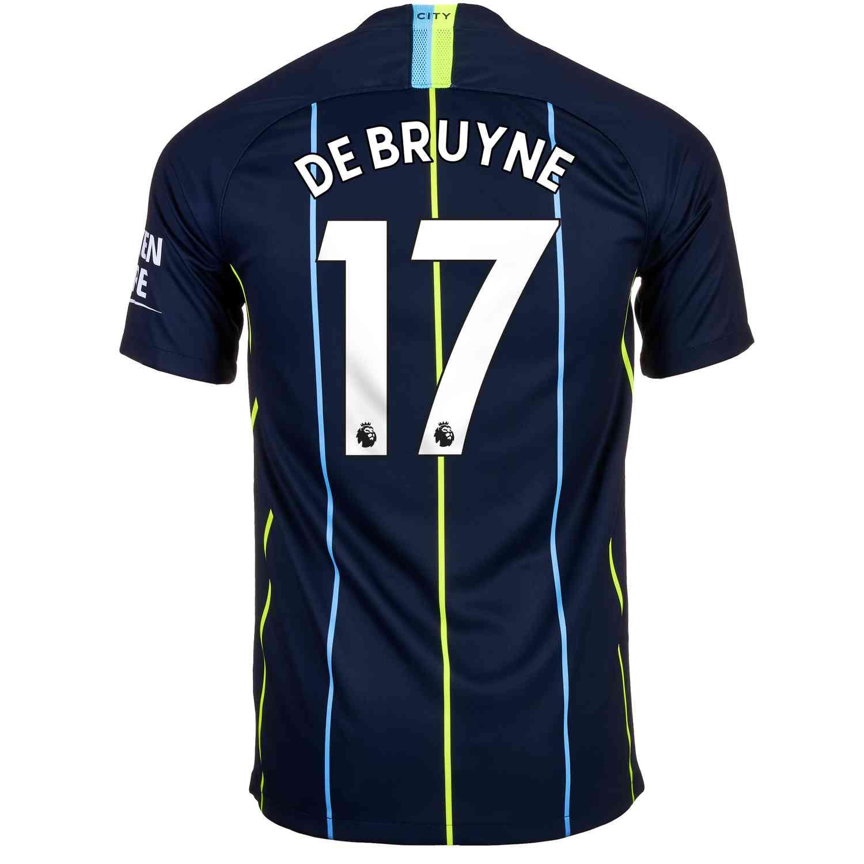 newest 563e7 1be7d 2018 19 Kids Nike Kevin De Bruyne Manchester City Away Jersey