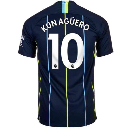 2018/19 Kids Nike Sergio Aguero Manchester City Away Jersey