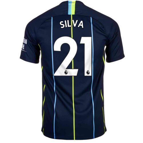 2018/19 Kids Nike David Silva Manchester City Away Jersey